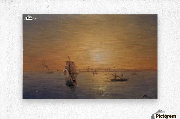 Russian Fleet at Sunset  Metal print