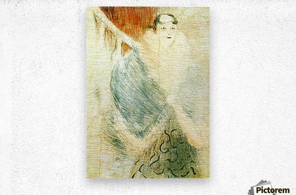 Elsa dite la Liennoise by Toulouse-Lautrec  Metal print