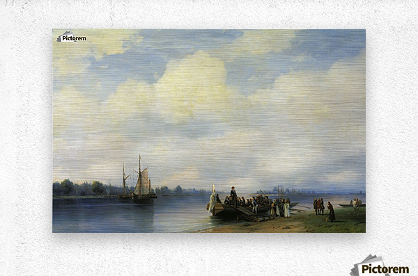 Arrival of Peter I on the Neva  Metal print