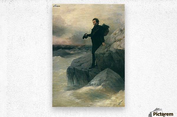 Pushkin and the sea  Metal print