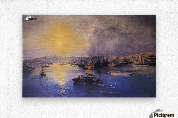 Constantinople Sunset  Metal print