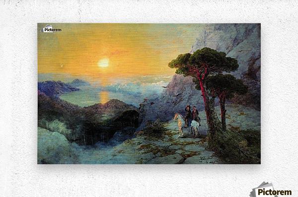 On top of the Ai-Petri Mountain at sunrise  Metal print
