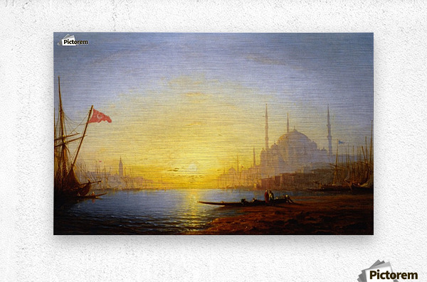 View of Constantinople  Metal print