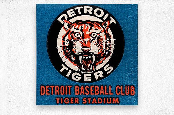 1963 Detroit Tigers Vintage Baseball Club  Metal print