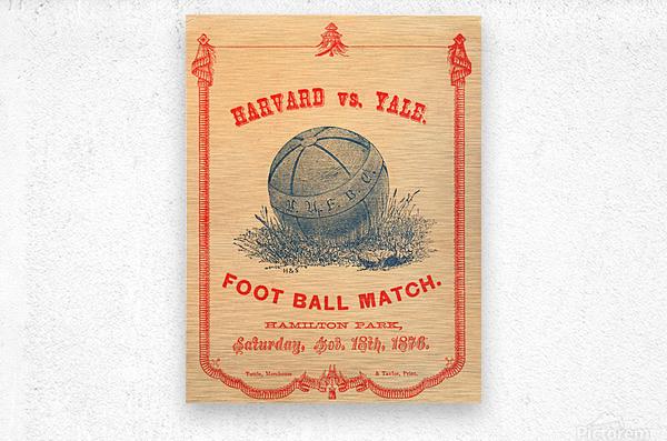 1876 Harvard vs. Yale  Metal print