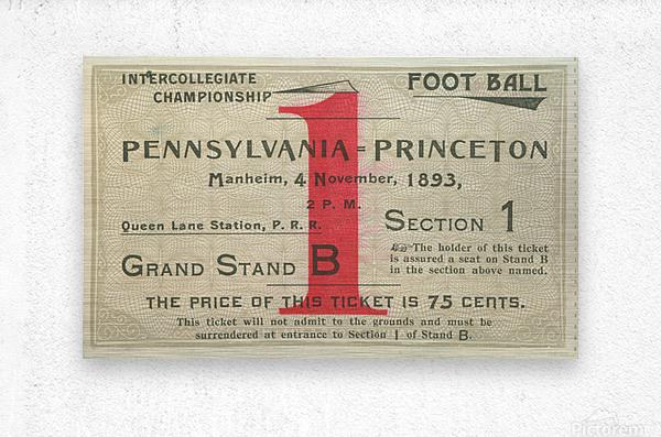 1893 Penn vs. Princeton  Metal print