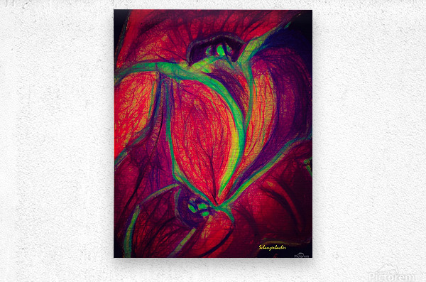 Electric Flowers  Metal print