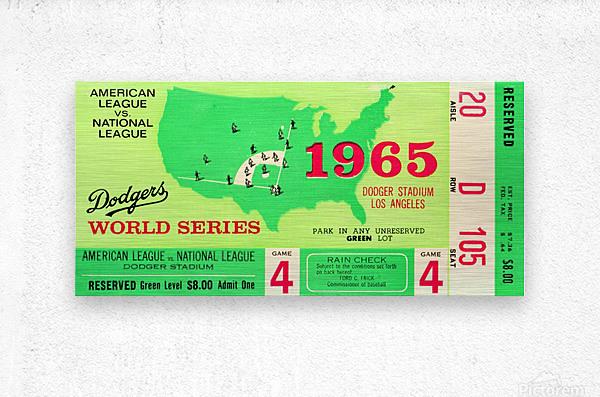 1965 World Series Ticket Stub Game 4  Metal print