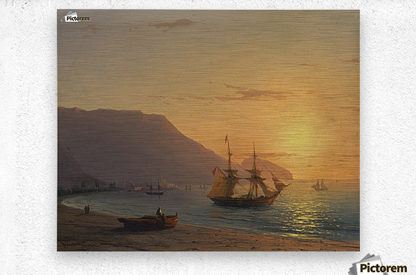 Sunset in Crimea  Metal print
