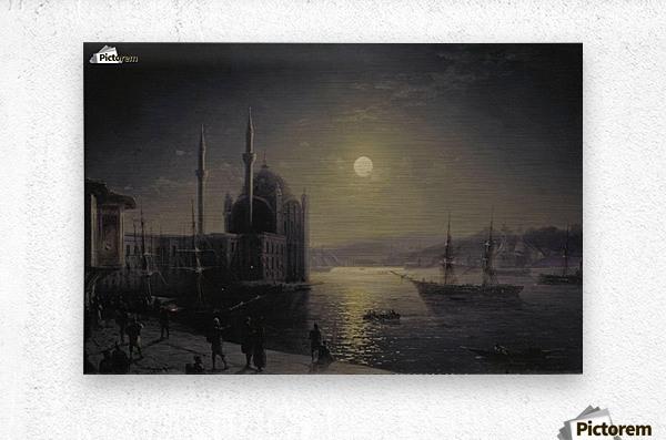 Moonlight on the Bosphorus  Metal print