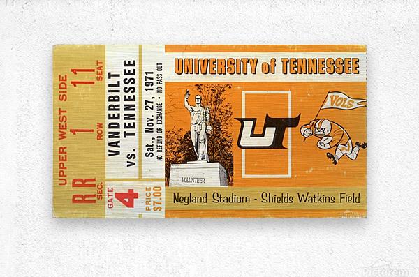 1971 Vanderbilt vs. Tennessee  Metal print