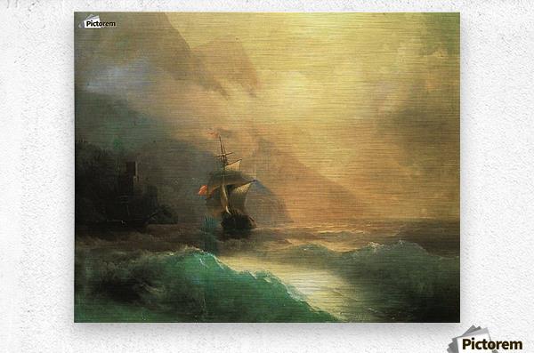 Marine landscape Sea  Metal print