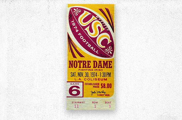 1974 USC vs. Notre Dame  Metal print