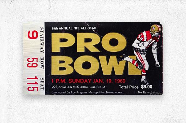 1969_National Football League_Pro Bowl_Los Angeles Coliseum_Row One  Metal print
