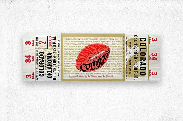 1969_College_Football_Colorado vs. Oklahoma_Owen Field_Norman_Row One  Metal print