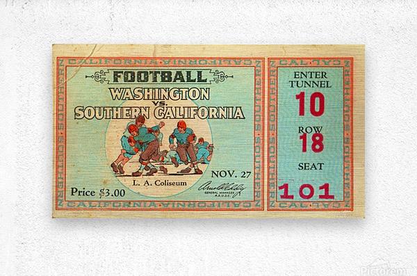 1930 Washington vs. USC  Metal print