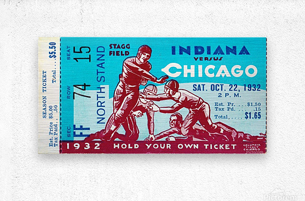 1932 Indiana vs. Chicago  Metal print