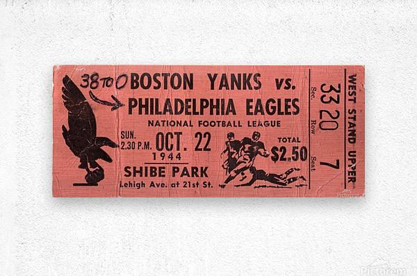 1944_National Football League_Boston Yanks vs. Philadelphia Eagles_Shibe Park_Row One  Metal print