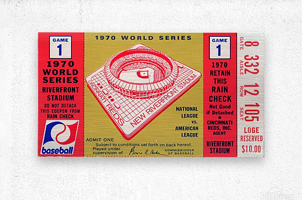 1970_Major League Baseball_World Series_Cincinnati Reds vs. Baltimore Orioles_Riverfront Stadium  Metal print