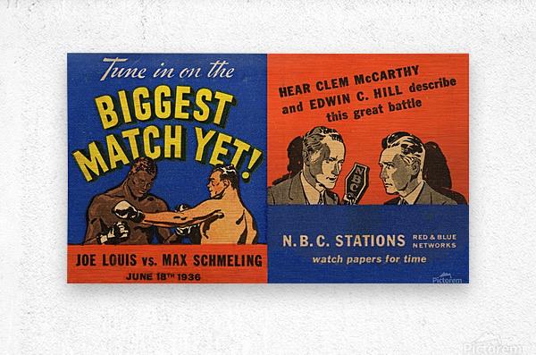 1936 Joe Louis vs. Max Schmeling  Metal print
