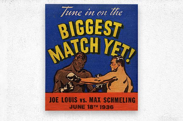 1936 Biggest Match Yet  Metal print