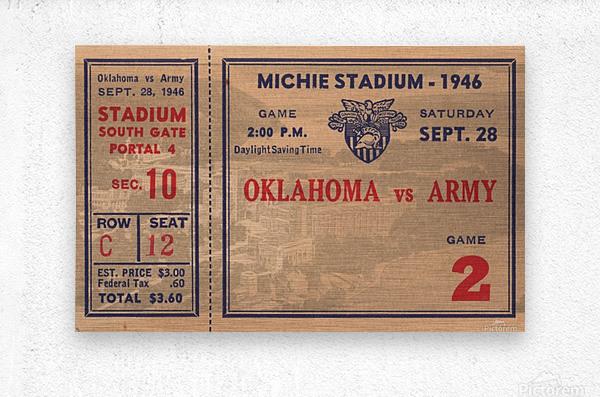 1946_College_Football_Oklahoma vs. Army_Michie Stadium_West Point_New York_Row One Brand  Metal print