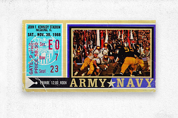 1968_College_Football_Army vs. Navy_John F. Kennedy Stadium_Philadelphia_Row One Brand  Metal print