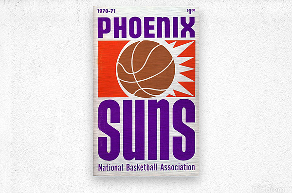 1970 Phoenix Suns  Metal print