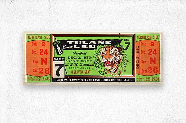 1950_College_Football_Tulane vs. LSU_Tiger Stadium_Baton Rouge_Row One Brand  Metal print