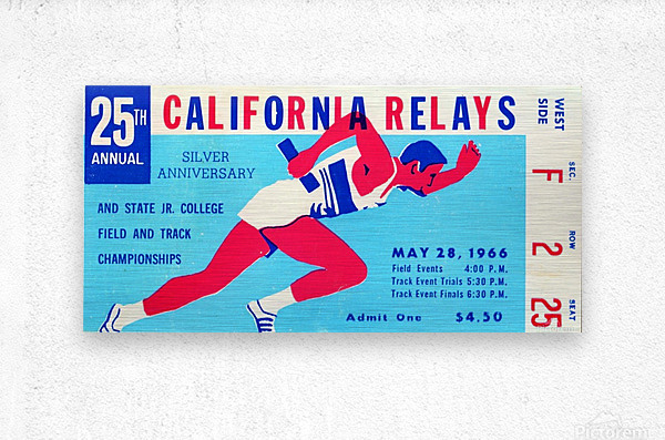 1966_Track and Field_California Relays_Row One Brand  Metal print