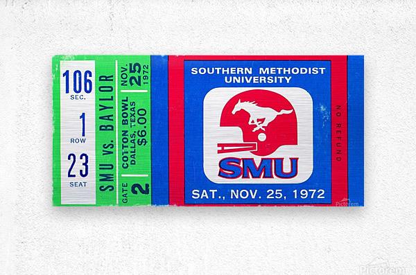 1972_College_Football_Baylor vs. SMU_Cotton Bowl Stadium_Dallas_Row One Brand  Metal print