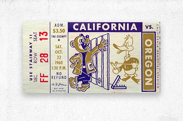 1960_College_Football_California vs. Oregon_Memorial Stadium_Row One Brand  Metal print