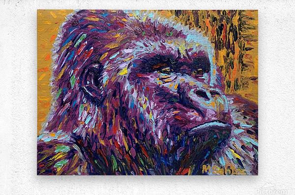 Gorilla Closeup  Metal print