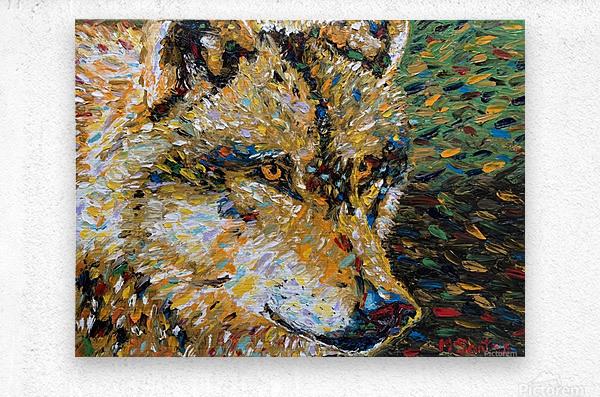 Wolf Closeup  Metal print