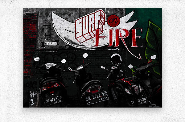 Surf Fire  Metal print