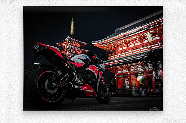 Honda At The Temple  Metal print