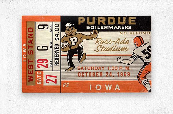 1959 Purdue vs. Iowa  Metal print