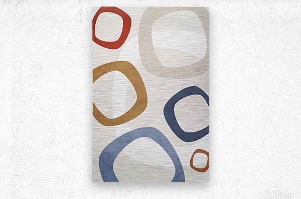 Textured Shapes 08 - Abstract Geometric Art Print  Metal print