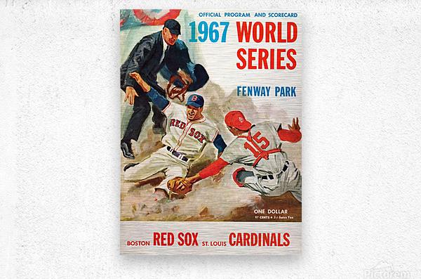 1967 World Series Program Cover Art Fenway Park  Metal print