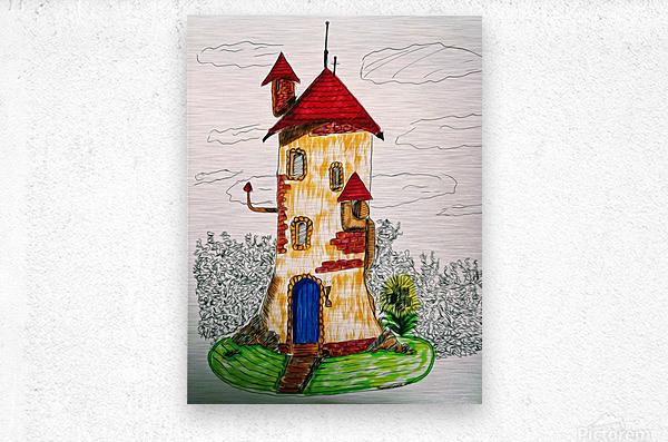 Wizard Tower  Metal print
