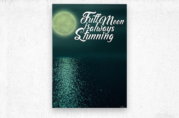 Full Moon is always Stunning  Metal print