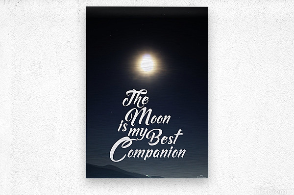 The Moon is Best Companion  Metal print