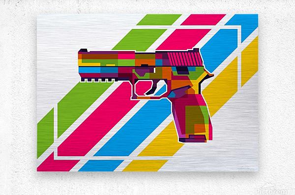 SIG P250 Handgun  Metal print