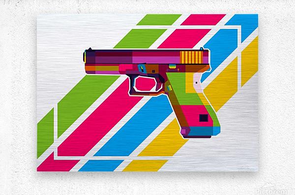 Glock Handgun  Metal print