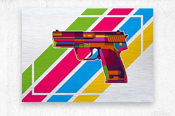 Heckler and Koch USP Handgun  Metal print