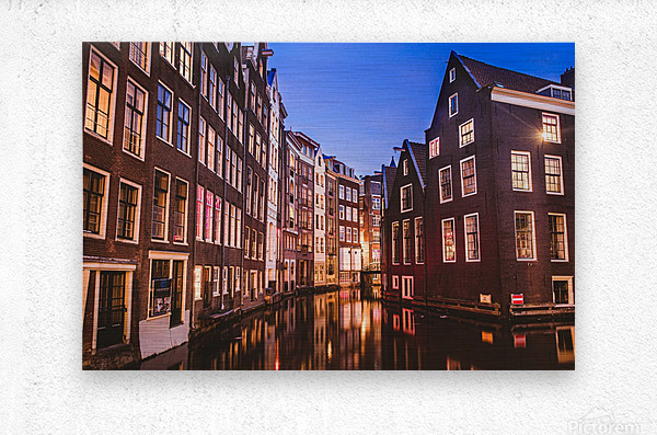 Amsterdam Lights  Metal print