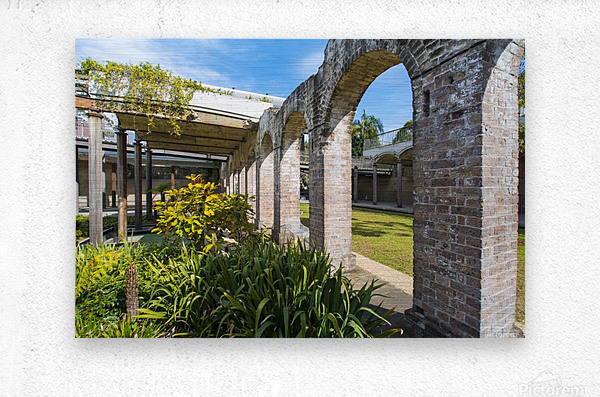 Paddington Reservoir gardens  Metal print
