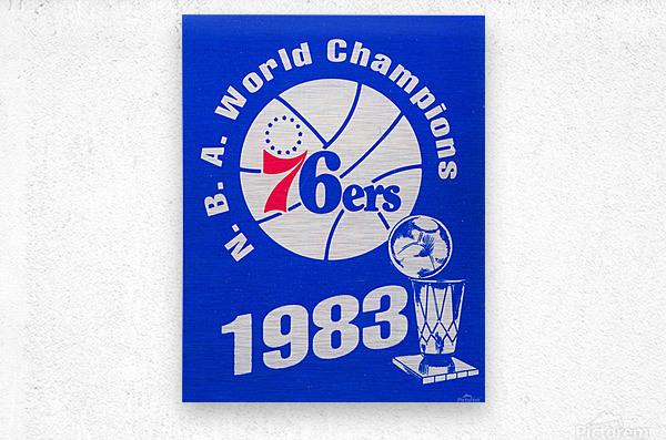 1983 NBA World Champions Philadelphia 76ers Art Reproduction 1  Metal print