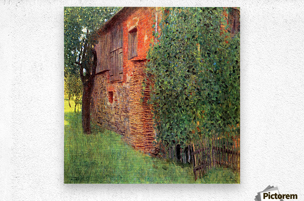 Farmhouse in Chamber in Attersee by Klimt  Metal print