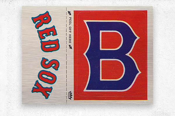 1978 Boston Red Sox Fleer Decal Reproduction 1200 DPI Scan Art by Row One™  Metal print